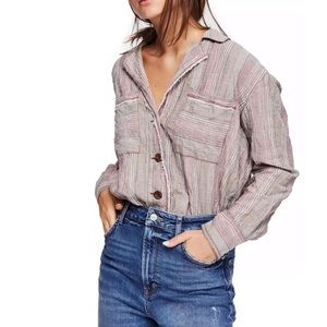 new✨ free people high tide striped shirt